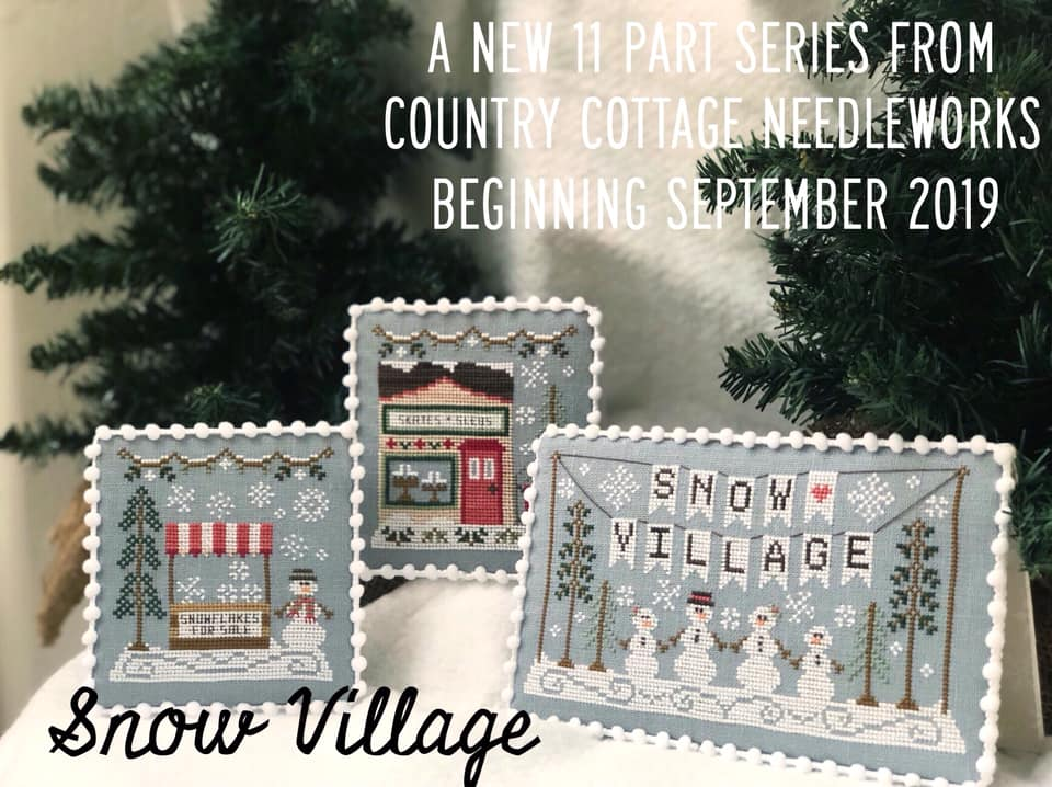 10/%Off Country Cottage Needleworks Ctd X-stitch chart-Snow Village-Banner