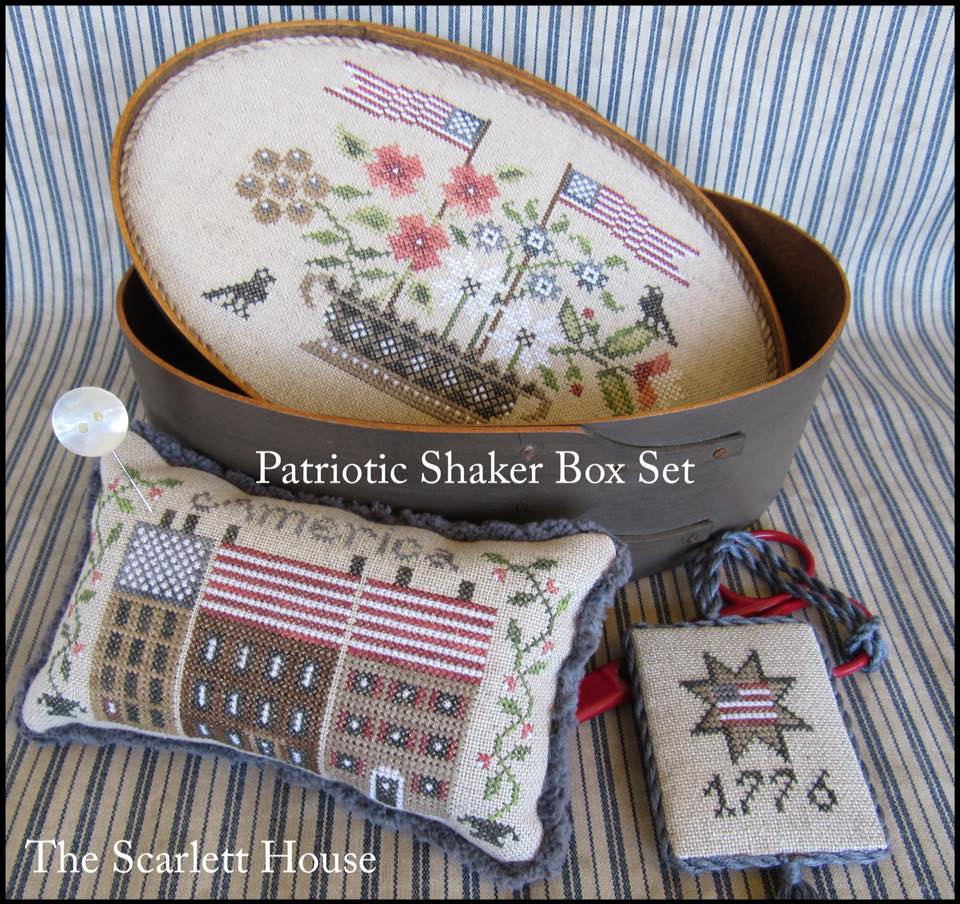 The Scarlett House 2018 Releases Palomino Handbag Black Patriotic Shaker Box Set By Lehay Available Special Order Price Tba Retail For Chart Linen And Threads 5500